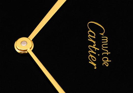 Foto 3, Herren VLC Vendome Louis Cartier Silber Gold Kroko Falt, U1634