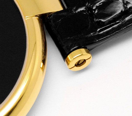 Foto 4, Herren VLC Vendome Louis Cartier Silber Gold Kroko Falt, U1634