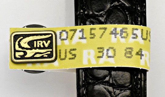 Foto 5, Herren VLC Vendome Louis Cartier Silber Gold Kroko Falt, U1634