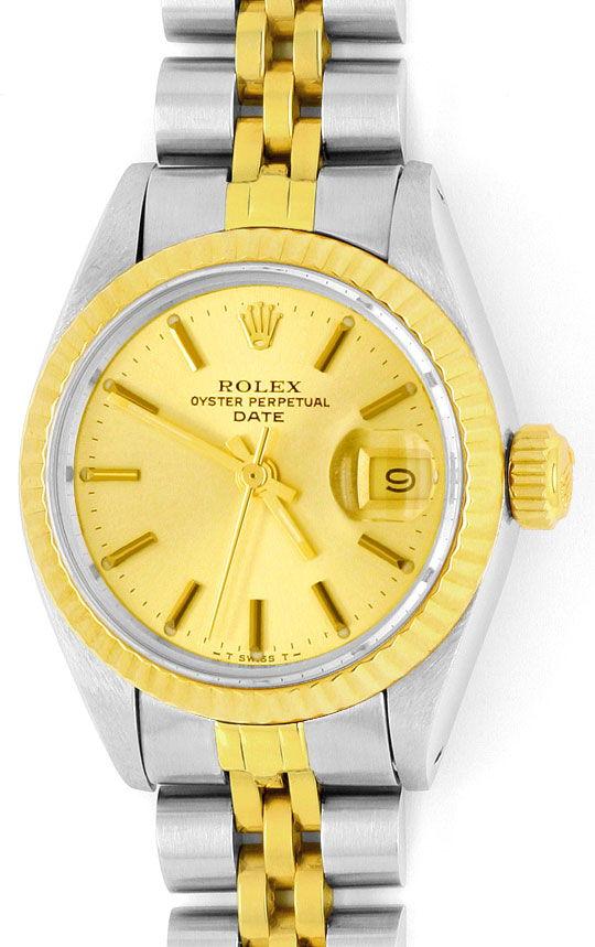 Foto 2, Rolex Date Oyster Perpetual Jubileeband Stahlgold Damen, U1644