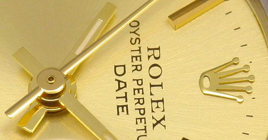 Foto 3, Rolex Date Oyster Perpetual Jubileeband Stahlgold Damen, U1644