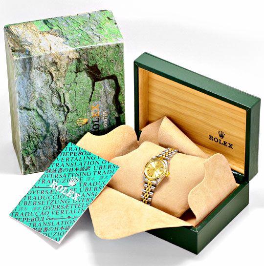Foto 6, Rolex Date Oyster Perpetual Jubileeband Stahlgold Damen, U1644