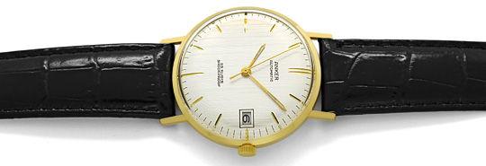 Foto 1, Herren Armbanduhr, Gelbgold 14K Automatik Datum Sekunde, U1650