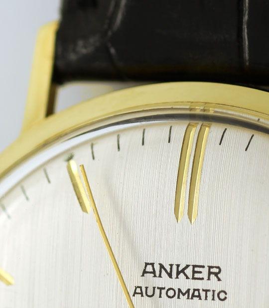 Foto 3, Herren Armbanduhr, Gelbgold 14K Automatik Datum Sekunde, U1650