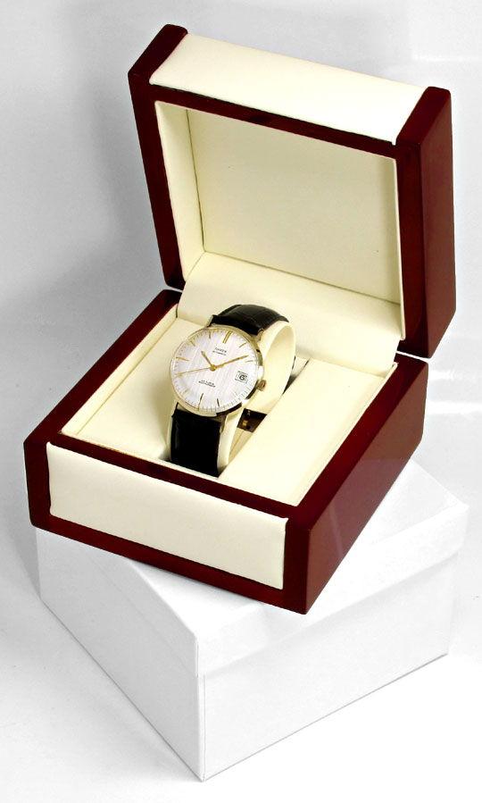 Foto 5, Herren Armbanduhr, Gelbgold 14K Automatik Datum Sekunde, U1650