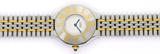 Foto 1, Cartier Montre 21 Must de Cartier Herren Armbanduhr STG, U1652