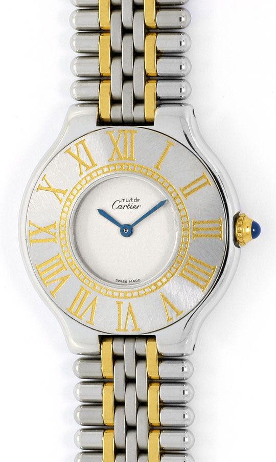Foto 2, Cartier Montre 21 Must de Cartier Herren Armbanduhr STG, U1652