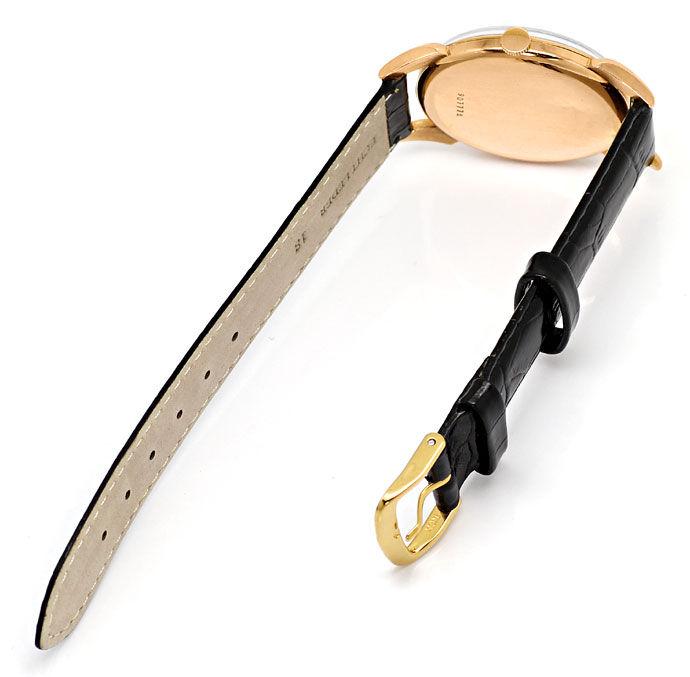 Foto 3, Doxa Vintage Herren Armbanduhr 14K Rose Gold, Lederband, U1660