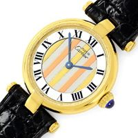 zum Artikel Cartier Vermeil, Vendome Louis Cartier Damen 925 3 Gold, U1667