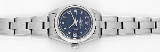 Foto 1, Rolex Date Damen Armbanduhr Weissgold Lünette Edelstahl, U1680