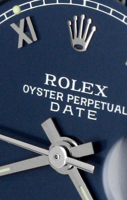 Foto 3, Rolex Date Damen Armbanduhr Weissgold Lünette Edelstahl, U1680