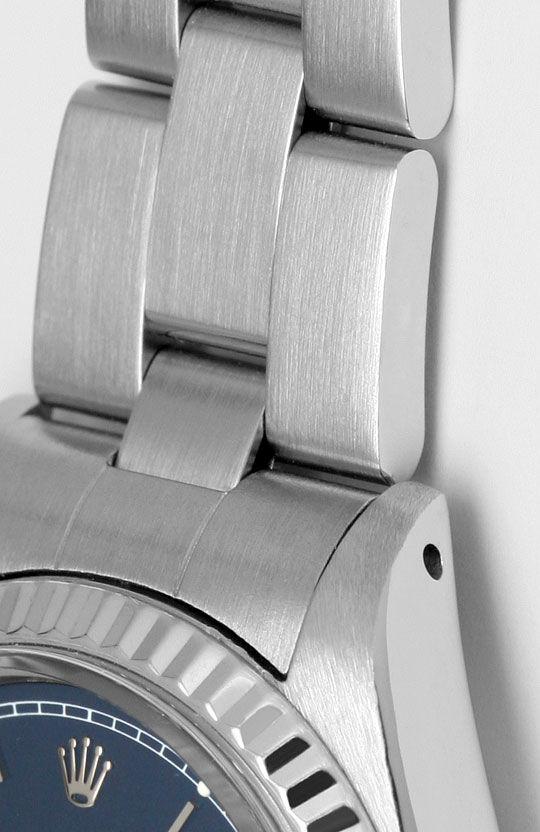 Foto 4, Rolex Date Damen Armbanduhr Weissgold Lünette Edelstahl, U1680