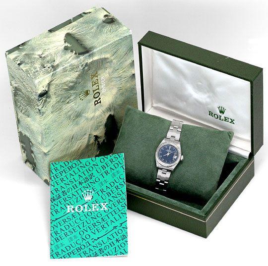 Foto 6, Rolex Date Damen Armbanduhr Weissgold Lünette Edelstahl, U1680