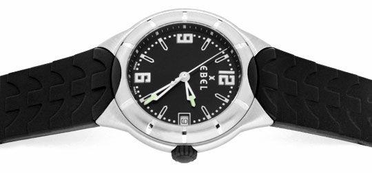 Foto 1, Ebel E Type Senior Uhr Etype Stahl Kautschuk Ungetragen, U1687