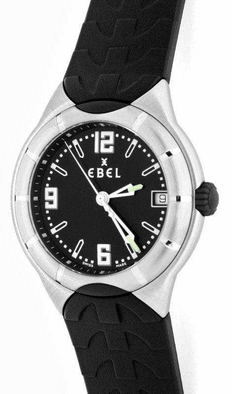 Foto 2, Ebel E Type Senior Uhr Etype Stahl Kautschuk Ungetragen, U1687
