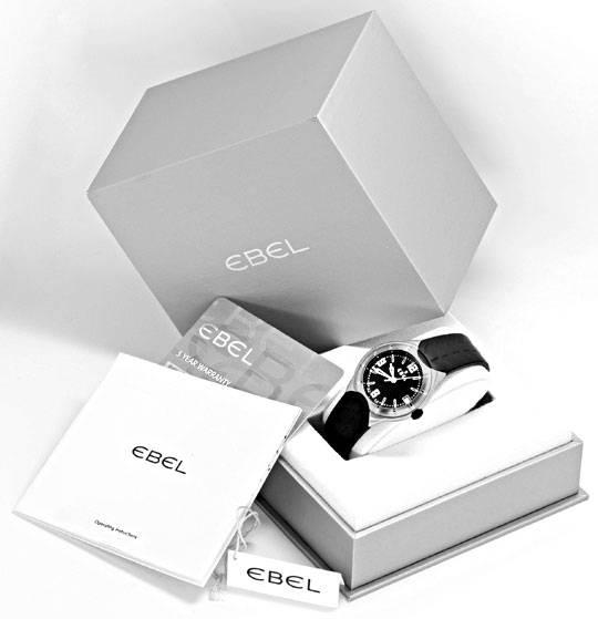Foto 6, Ebel E Type Senior Uhr Etype Stahl Kautschuk Ungetragen, U1687