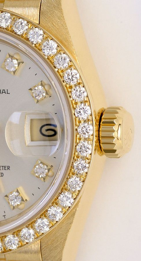 Foto 4, Rolex Datejust Damen G.Gold Diamant Lünette Zifferblatt, U1695
