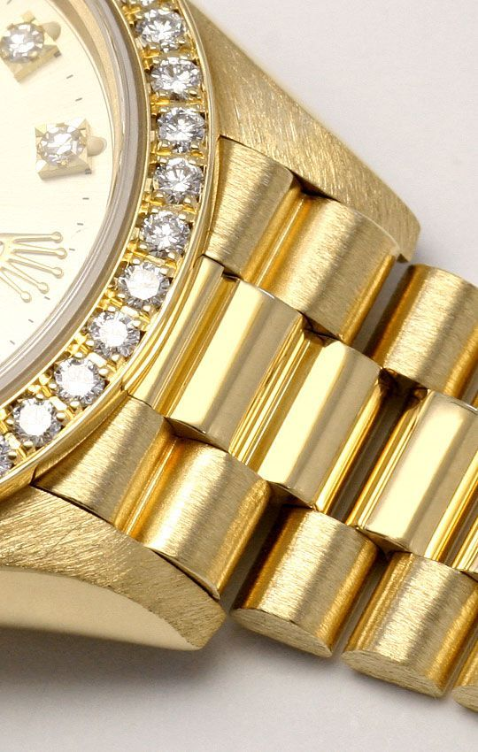 Foto 5, Rolex Datejust Damen G.Gold Diamant Lünette Zifferblatt, U1695