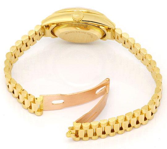 Foto 6, Rolex Datejust Damen G.Gold Diamant Lünette Zifferblatt, U1695