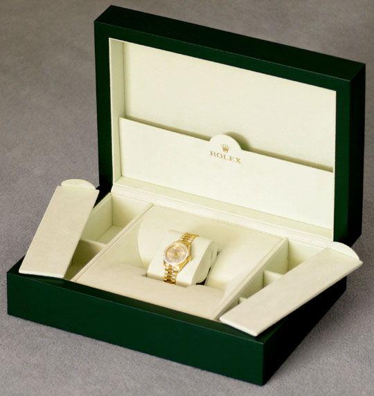 Foto 8, Rolex Datejust Damen G.Gold Diamant Lünette Zifferblatt, U1695