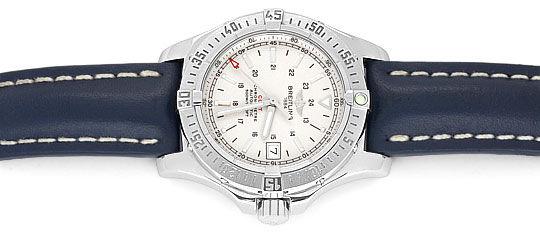 Foto 1, Breitling Colt Chronometer Edelstahl, Lederband, Herren, U1697