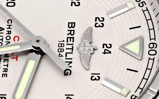 Foto 3, Breitling Colt Chronometer Edelstahl, Lederband, Herren, U1697