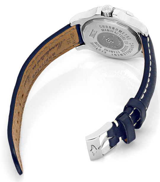 Foto 5, Breitling Colt Chronometer Edelstahl, Lederband, Herren, U1697