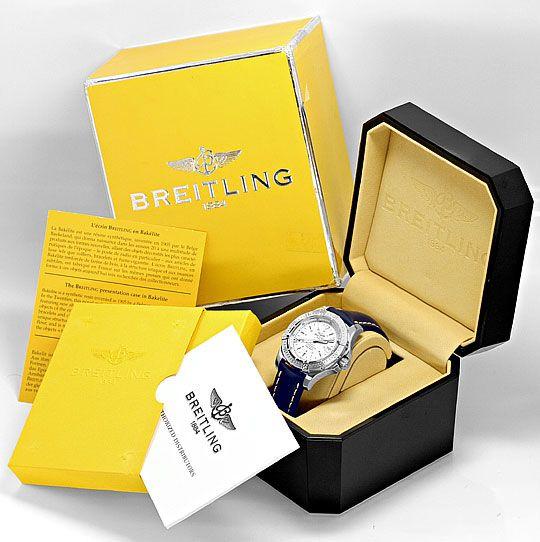Foto 6, Breitling Colt Chronometer Edelstahl, Lederband, Herren, U1697