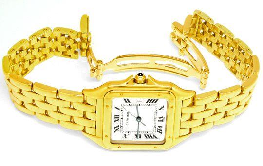 Foto 3, Original Hr Cartier Panthere Gold Topuhr Neuw Portofrei, U1713