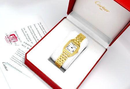 Foto 4, Original Hr Cartier Panthere Gold Topuhr Neuw Portofrei, U1713