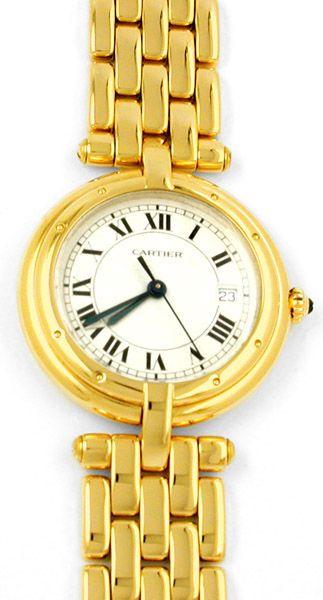 Foto 1, Orig.Cartier Panthere Gelbgold Armbanduhr Geprüft F.Neu, U1738