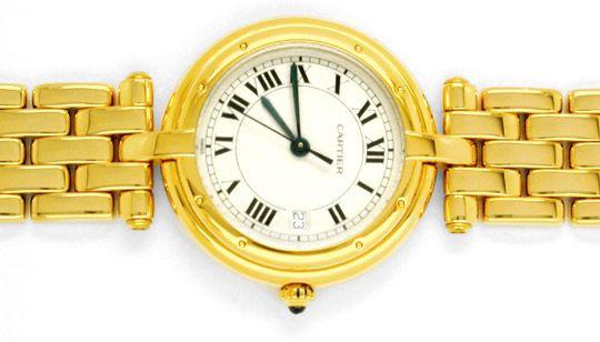 Foto 2, Orig.Cartier Panthere Gelbgold Armbanduhr Geprüft F.Neu, U1738