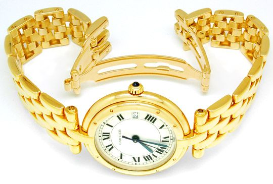 Foto 3, Orig.Cartier Panthere Gelbgold Armbanduhr Geprüft F.Neu, U1738
