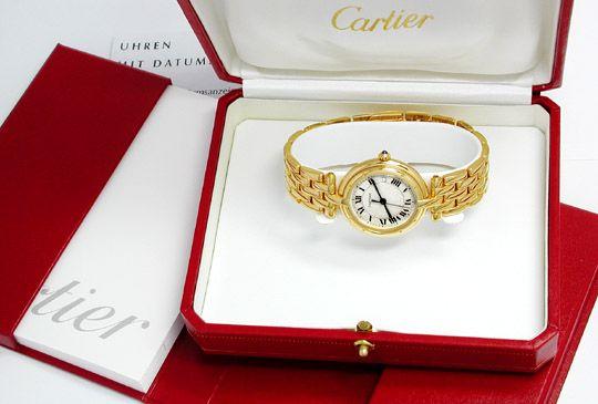 Foto 4, Orig.Cartier Panthere Gelbgold Armbanduhr Geprüft F.Neu, U1738