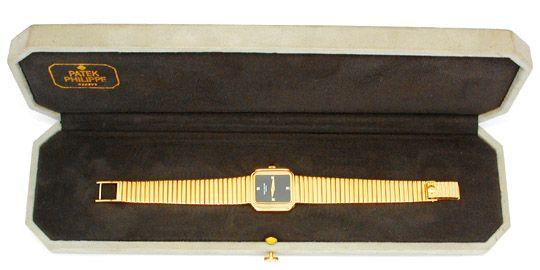 Foto 4, Original Da Patek Goldsportband Topuhr F.Neu! Portofrei, U1739