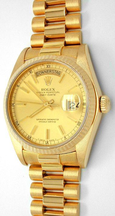 Foto 1, Original Hr Rolex Daydate Gold Geprüft Neuw.! Portofrei, U1743