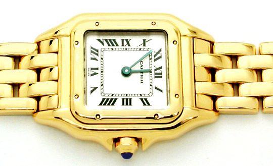 Foto 2, Original Da Cartier Panthere Gold Topuhr Neuw Portofrei, U1746