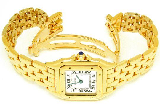 Foto 3, Original Da Cartier Panthere Gold Topuhr Neuw Portofrei, U1746