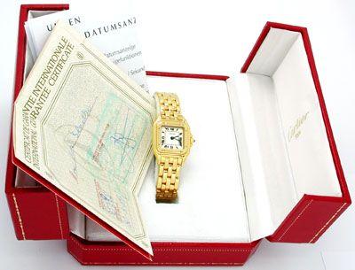 Foto 4, Original Da Cartier Panthere Gold Topuhr Neuw Portofrei, U1746