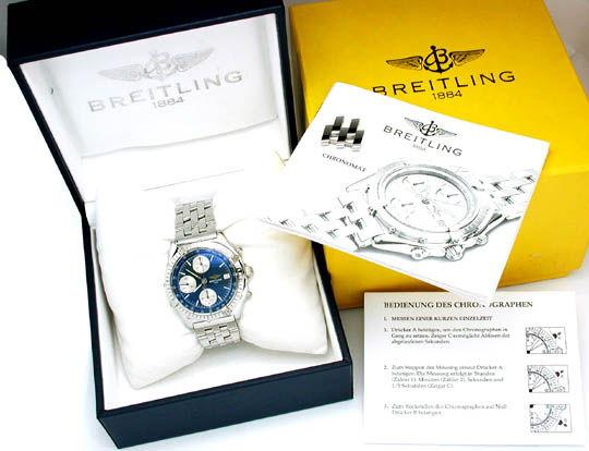 Foto 3, Orig.Hr Breitling Chronograph ST Shop! F.Neu! Portofrei, U1751