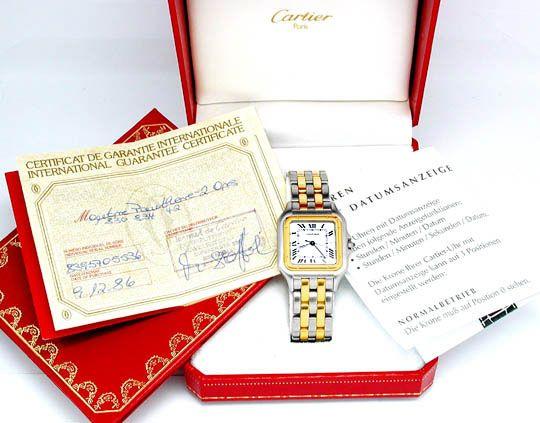 Foto 3, Orig. XXL Herren Cartier Panthere Stahlgold Shop! F.Neu, U1756