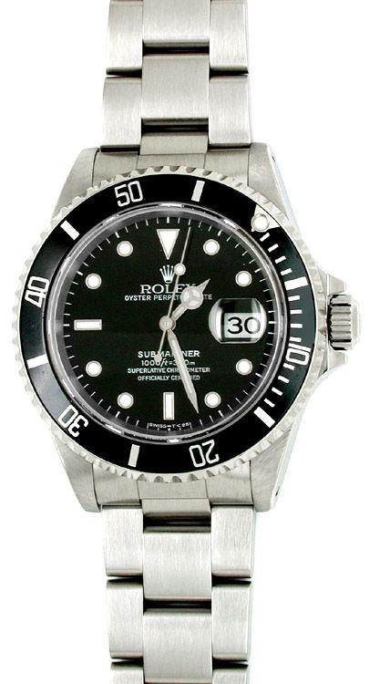 Foto 1, Orig. Rolex Submariner Datum Edelstahl Armbanduhr Neuz., U1770