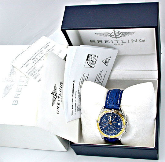 Foto 4, Orig. Breitling Chronomat Goldlün.Shop! Neuz. Portofrei, U1776