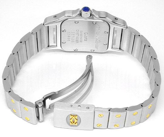Foto 2, Original Cartier Santos Galbee, Damen Uhr in Stahl Gold, U1778