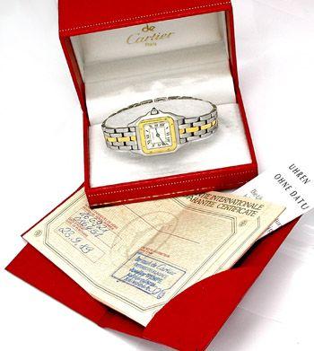 Foto 3, Original Da Cartier Panthere St/G Shop! Neuw. Portofrei, U1779