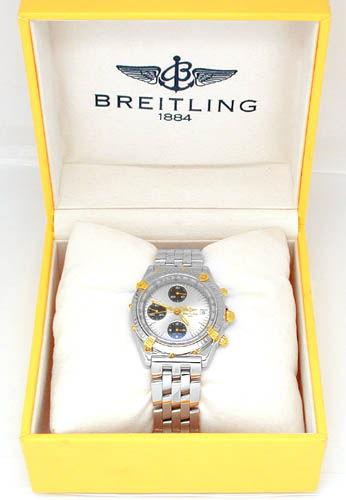 Foto 3, Breitling Chronomat Pilot St/G Shop! Neuzust. Portofrei, U1781