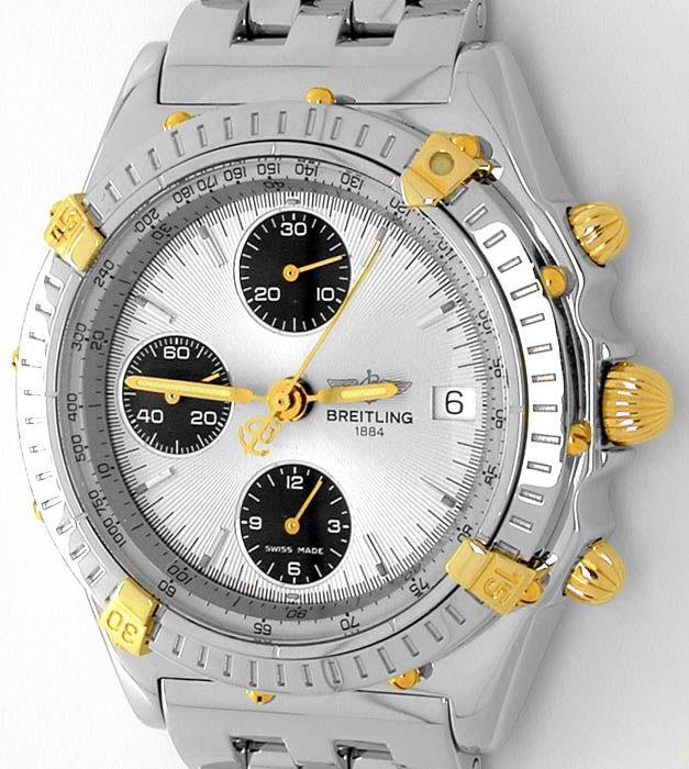 Foto 9, Breitling Chronomat Pilot St/G Shop! Neuzust. Portofrei, U1781