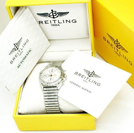 Foto 3, Orig.Hr Breitling Chronomat, St Band Neuzust. Portofrei, U1785