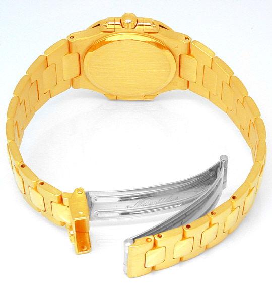 Foto 2, Patek Philippe Nautilus, Damen Armbanduhr, Gold Geprüft, U1787