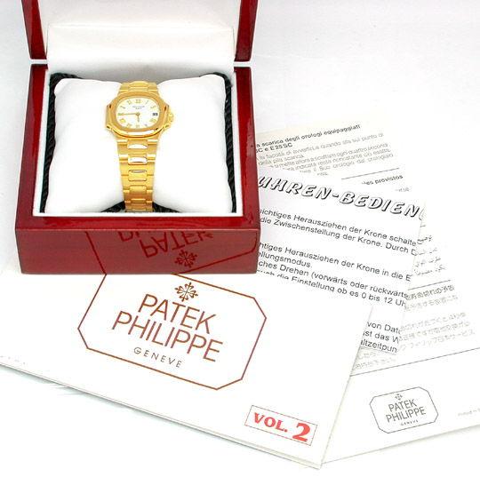 Foto 3, Patek Philippe Nautilus, Damen Armbanduhr, Gold Geprüft, U1787